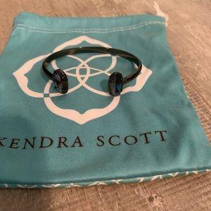 Kendra Scott gunmetal cuff bracelet